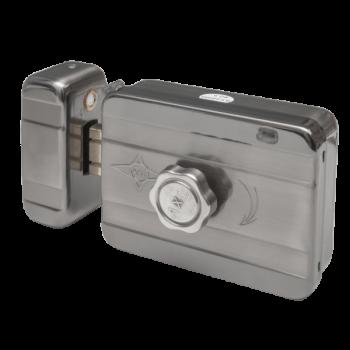 Yala electromagnetica aplicabila cu motor si senzor magneticDeschidere electrica (12V) sau manualaButon in interior/Butuc cu chei in exteriorMontare universala â stanga sau dreapta, carcasa inox
