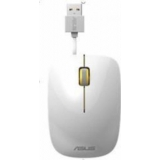 Mouse Asus UT300 Optic 3 butoane 1000dpi cablu retractabil 70cm design ambidextru Glossy White-Yellow 90XB0460-BMU030
