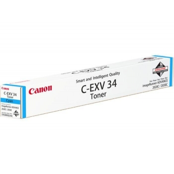 Cartus Toner Canon C-EXV34 Cyan 19000 Pagini for IR Advance C2020L/2030L CF3783B002AA