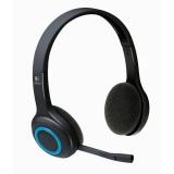 Casti Wireless Logitech H600 cu microfon negru-albastre 981-000342