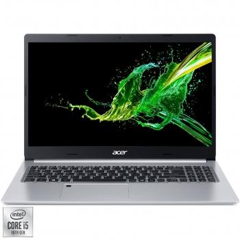 "Laptop Acer Aspire 5 A515-55 cu procesor Intel® Core™ i5-1035G1 pana la 3.60 GHz Ice Lake, 15.6"", Full HD, 8GB, 256GB SSD, Intel UHD Graphics, Linux, Silver NX.HSMEX.006"