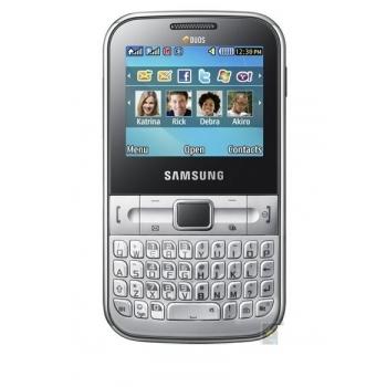 Telefon Mobil Samsung Chat C3222 Silver Dual SIM SAMC3222SLV