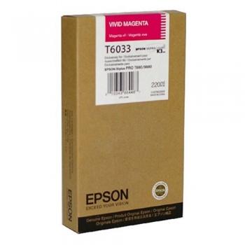 Cartus Cerneala Epson T6033 Vivid Magenta 220ml for Stylus Pro 7880, Stylus Pro 9880 C13T603300