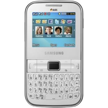 Telefon Mobil Samsung Chat C3222 Dual Sim White SAMC3222WHT