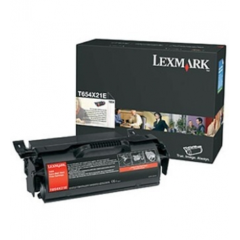 Cartus Toner Lexmark T654X21E Black Extra High Yield 36000 pagini for T654, T654DN, T654DTN, T654N, T656DNE