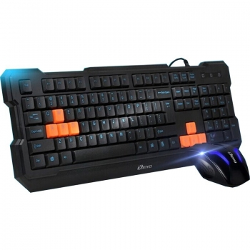 KIT Tastatura+Mouse Xeiyo T502 Tastatura Gaming Mouse Optic 3 butoane 1000dpi black USB T502-BK