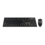 Kit Tastatura+Mouse A4Tech KRS-8372-USB Tastatura KRS-83 USB Mouse Optic OP-720 USB Black