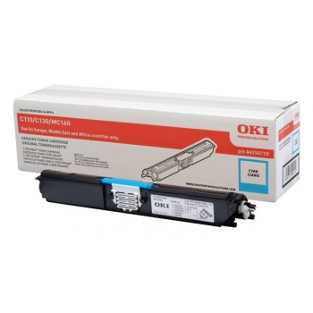 Cartus Toner Oki 44250719 Cyan 1500 Pagini for C110, C130N, MC160N