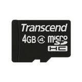 Card Memorie MicroSDHC Transcend 4GB Clasa 4 TS4GUSDC4