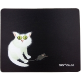 Mouse Pad Serioux Cat and mice MSP02 black SRXA-MSP02