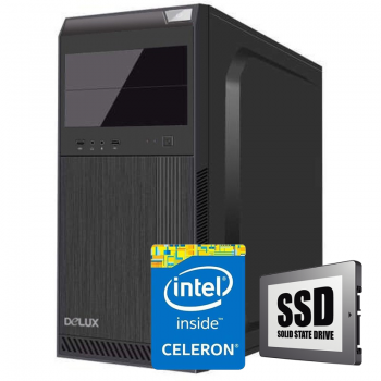 Sistem PC Bocris Intel Celeron Dual Core G3900 2.8GHz RAM 4GB DDR4 SSD 240GB Intel HD Graphic