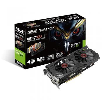 Placa Video Asus STRIX nVidia GeForce GTX 970 4GB GDDR5 256 bit PCI-E x16 3.0 DVI HDMI DisplayPort STRIX-GTX970-DC2-4GD5