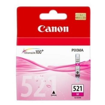 Cartus Cerneala Canon CLI-521M Magenta 470 Pagini for Pixma IP3600, IP4600, IP4700, MP550, MP560, MP620, MP630, MP640, MP980, MP540, MP990, MX870 BS2935B001AA