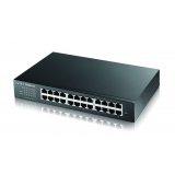 GS1900-24E Switch Gigabit Web Managed, Rackmount, 24 x Gigabit Port, metal, IPV6, Fanless Design
