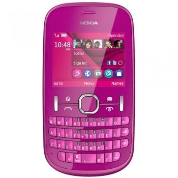 Telefon Mobil Nokia Asha 201 Pink NOK201PNK