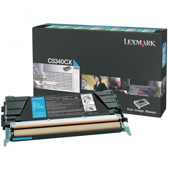 Cartus Toner Lexmark C5340CX Cyan High Yield 7000 pagini for C534DN, C534DTN, C534N