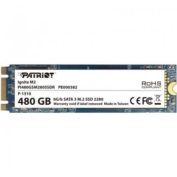 SSD Patriot Ignite 480GB M.2 80mm PI480GSM280SSDR