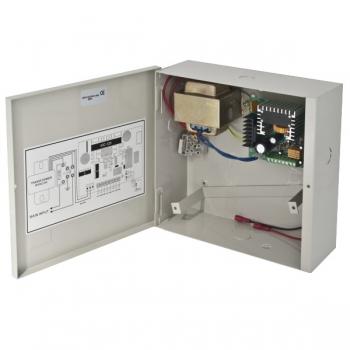 Sursa de alimentare neintreruptibila ABK-902-12-5 Tensiune de intrare 200-240Vca, 50HzTensiune de iesire 12Vcc, 5A, cutie de metal, temporizare 0-30 sec