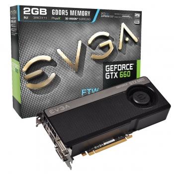 Placa Video EVGA nVidia GeForce GTX 660 FTW 2GB GDDR5 192bit PCI-E x16 3.0 HDMI 2x DVI DisplayPort 02G-P4-2668-KR