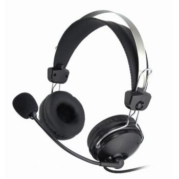 Casti A4Tech HS-7P cu microfon si control de volum black