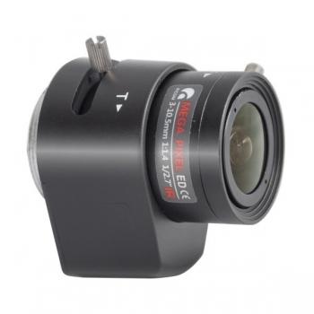 """Lentila auto iris LC-NV03105D.IR 1/2.7"""" 3MP 3-10.5mm varifocala montura CS"""