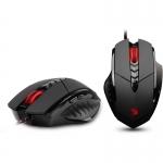 Mouse A4Tech Bloody V7 Optic 7 butoane 3200 dpi USB metal feet black V7M