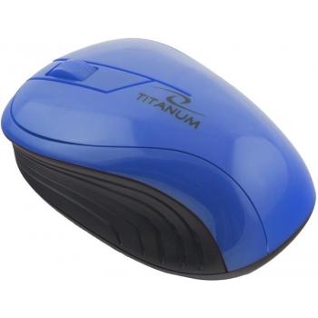 TITANUM Wireless Optical Mouse 3D TM115B NEON   2.4 GHz   1000 DPI  Albastru TM115B - 5901299904800