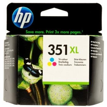Cartus Cerneala HP Nr. 351XL Color Vivera Inks 580 Pagini for Deskjet D4260, D4280, D4360, Photosmart C4480, C4580, OfficeJet J5780, Photosmart C4280 AIO, OfficeJet J6140, Photosmart C5200, Photosmart C5280 AIO CB338EE
