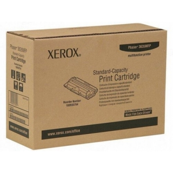 Cartus Toner Xerox 108R00794 Black Standard Capacity 5000 Pagini for Phaser 3635MFP/S, Phaser 3635MFP/X