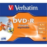 DVD-R Verbatim 4,7GB 16X printabil JewelCase 43521