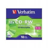 CD-RW VERBATIM 8-12X 700MB JC 43148