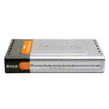 Switch D-Link DES-1008D 8xRJ-45 10/100Mbps