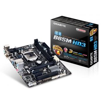 Placa de baza Gigabyte GA-B85M-HD3 V2.0 Socket 1150 Intel B85 2x DDR3 VGA DVI HDMI mATX