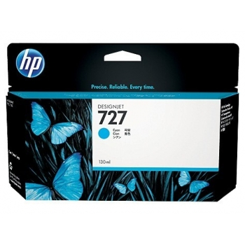 Cartus Cerneala HP Nr. 727 Cyan 130ml for DesignJet T1500 ePrinter, T920 ePrinter B3P19A