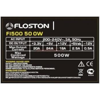 Sursa Floston FL500 bulk 4 Pin ATX 12V 1 SATA 2 Molex 2 Floppy 1