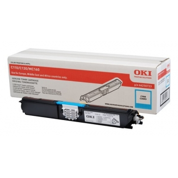 Cartus Toner Oki 44250723 Cyan 2500 Pagini for C110, C130N, MC160N