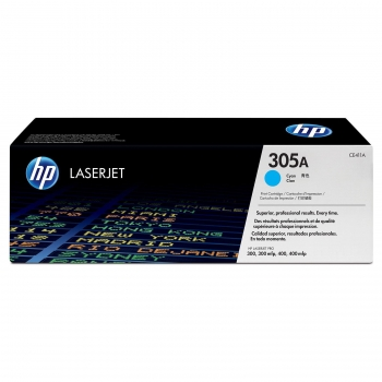 Cartus Toner HP Nr. 305A Cyan 2600 Pagini for LaserJet Pro 300 M375NW, 400 M475DN, 300 M351A, 400 M451DN CE411A