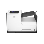 HP PageWide Pro 452dw Printer; A4, max 55ppm black si color (40ppm ISO), fpo 6.5sec, max 2400x1200dpi, 512 MB RAM, HP PCLXL (PCL6), native PDF, HP Postscript Level 3 emulation, display mono 5.08cm, tava 50+500 coli, duplex, USB host, USB 2.0 , GB Ethernet