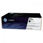 HP 25X High Yield Black Original LaserJet Toner Cartridge ; yield 40,000 pages