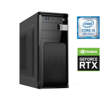 Sistem PC Bocris Intel Core i5-9400F Hexa Core up to 4.1GHz RAM 16GB DDR4 SSD 480GB + HDD 1TB nVidia RTX 2060 8GB