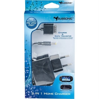 Alimentator priza Subsonic w.cablu USB alimentare/transfer date pt. PS Vita and PS3 / PC 3760192200905