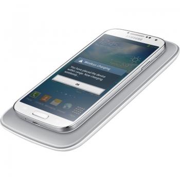 Stand birou Samsung pentru incarcare wireless EP-WI950EWEGWW + Cover White pentru i9505 Galaxy S IV
