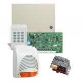 Kit DSC KIT 1404-SIR - centrala PC1404 (tastatura inclusa) - transformator TC20/16 - o sirena de exterior
