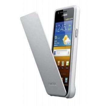Husa protectie Samsung EF-C1A2WGECSTD Flip Cover Gray-White pentru pentru i9100 Galaxy S II