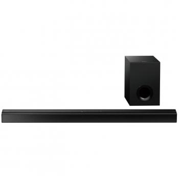 Bara de sunet Sony HT-CT80, 80 W, subwoofer cu cablu, 2.1 canale, receptie bluetooth, NFC, ClearAudio+, greutate 2 kg, dimensiuni 90.1 cm x 5.2 cm x 8.4 cm, negru