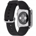 Smartwatch Apple Watch 38 mm carcasa din otel inoxidabil si curea classic neagra