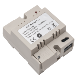 Sursa de alimentare PS4-24V pentru sisteme cu un post exterior si un post de interior. Alimenteaza tot sistemul. Montare pe sina DIN.