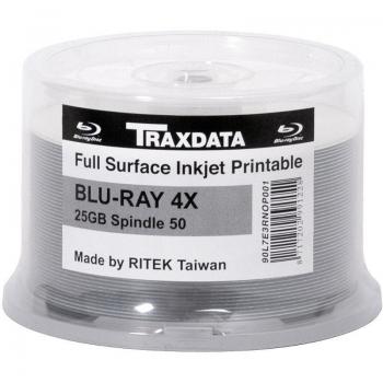 DBD-R TRAXDATA BLU-RAY FF INKJET 25GB 4X 50/C QDBD-RTX25GB/50