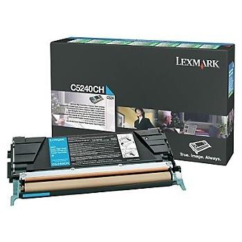 Cartus Toner Lexmark C5240CH Cyan 5000 pagini for C524, C524DN, C524DTN, C524N, C532DN, C532N