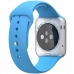 Smartwatch Apple Watch sport 42 mm carcasa din aluminiu argintiu curea sport albastra
